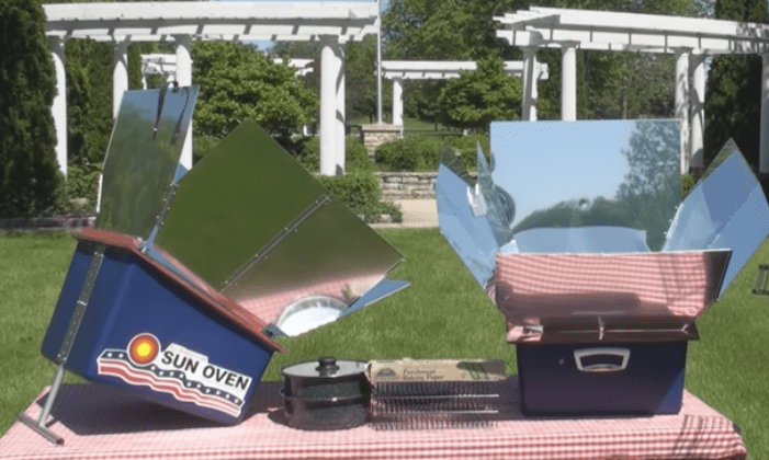 Image of a Solar Oven in Use